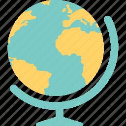 earth, geography, globe, map, school, study icon