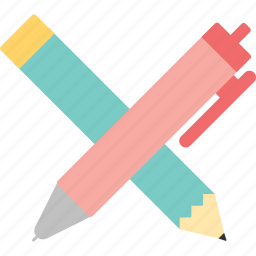 pen, pencil, school, student, work, write, writing supplies icon