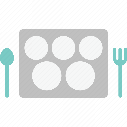 food, food tray, fork, lunch, meal, school, spoon icon