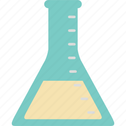 experiment, flask, school, science, study, test, triangular flask icon