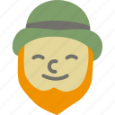 beard, ginger, holiday, holidays, leprechaun, patrick's day icon