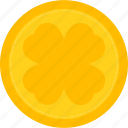 coin, holiday, holidays, luck, patrick's day, shamrock icon