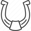 day, holidays, horseshoe, line, luck, outline, patricks icon