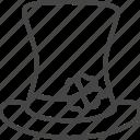 day, hat, holidays, line, outline, patricks, shamrock icon