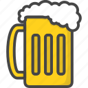 beer, colored, glass, holiday, holidays, patricks day icon