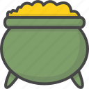 colored, gold, golden, holiday, holidays, patricks day, pot icon