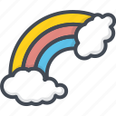 cloud, day, holiday, luck, patricks, rainbow, saint icon