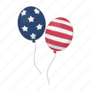attribute, balloon, color, day, flag, patriot icon