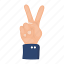 finger, gesture, hand, patriot, sign, symbolism, victory icon