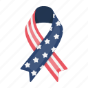 america, day, flag, holiday, patriot, ribbon, tradition icon