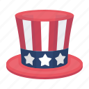america, attribute, color, cylinder, flag, hat, head icon