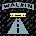pattaya, sign, street, thailand, walking icon