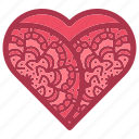 decorations, doodles, heart, hearts, love, patterns, swirls icon
