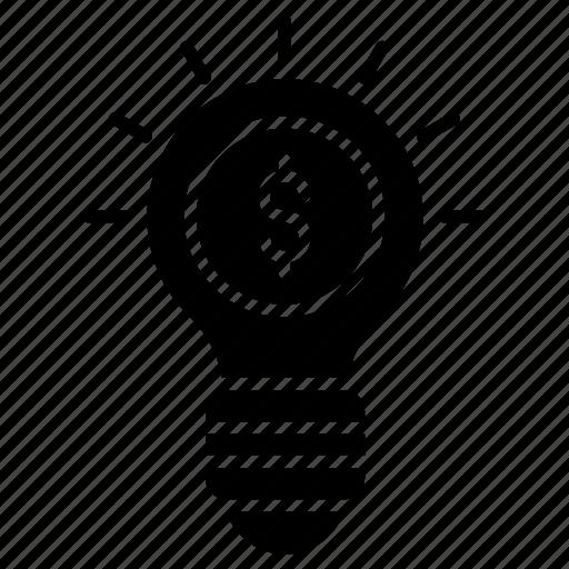 budget plan, business idea, financial idea, investment idea, productive idea icon