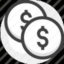 balance, coines, money icon