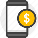 balance, finance, mobile, money icon