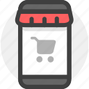 cart, commerce, ecommerce, mobile, phone, shopping, store icon