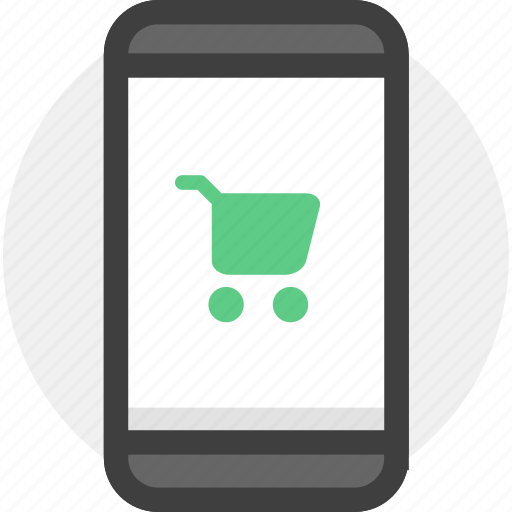 cart, ecommerce, mobile, shopping, store icon