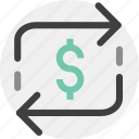 currency, exchange, finance, money, transaction icon