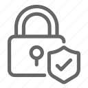 finance, lock, payment, protection, secure, security, shield icon