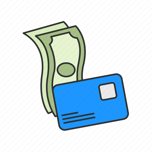 bill, cash, credit card, payment icon