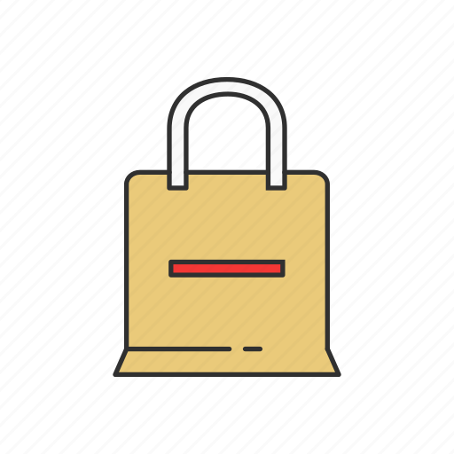 bag, payment, remove item, shopping bag icon