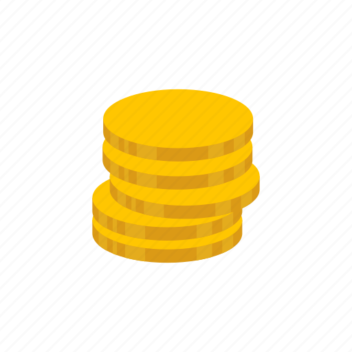 coins, currency, gold, gold coins icon
