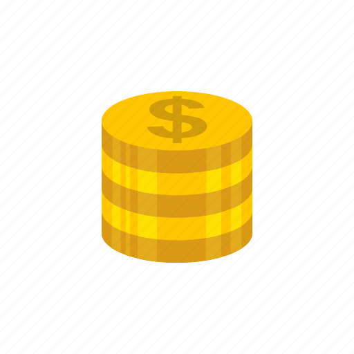 coins, currency, dollar, dollar coins icon