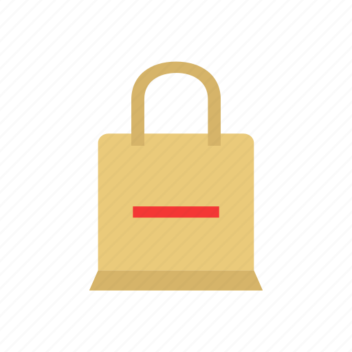 bag, minus, remove item, shopping bag icon