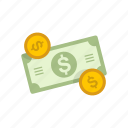 money, coins, dollar, cash icon