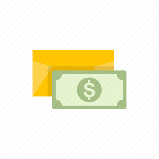 cash, dollar, envelope, money icon