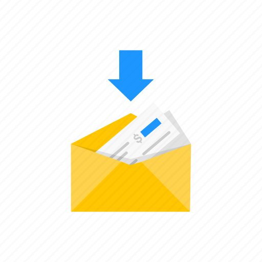 letter payment receive payment receiving payment icon
