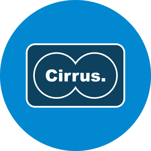 card, cirrus, method, payment icon