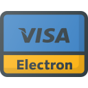 electron, money, online, pay, payments, send, visa icon