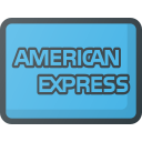 american, express, money, online, pay, payments, send icon
