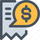 bill, checkbill, money, pay, payment, payment icon icon