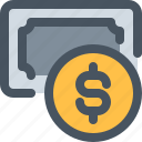 bank, banking, coin, money, pay, payment, payment icon icon