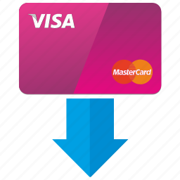 arrow, bank, cashout, credit, here, payment, place icon