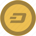 bitcoin, brand, coin, d, exchange, money icon