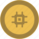 bitcoin, chip, chipset, coin, exchange, money icon