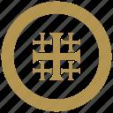 coin, cross, exchange, religion, rome icon