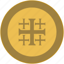 coin, cross, exchange, religion, rome icon