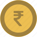 change, coin, exchange, india, money, value icon