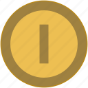 coin, exchange, first, money, one icon