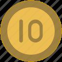 change, coin, exchange, money, ten, value