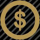 coin, dollar, exchange, money, usd, value icon