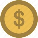 coin, dollar, exchange, money, usd, value icon