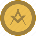 coin, exchange, masson, money, politics, religion, structure icon
