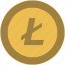 bitcoin, brand, coin, exchange, l, money icon