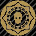 coin, death, exchange, money, skull icon